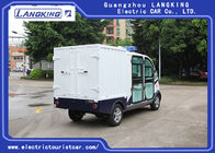 4 Seats Electric Luggage Cart / 48V 4kW DC Motor Driven Battery Powered Carry Van