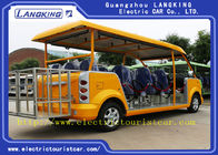 Playground Electric Tourist Car Gasoline Small Shuttle Bus With Roof  Windshield