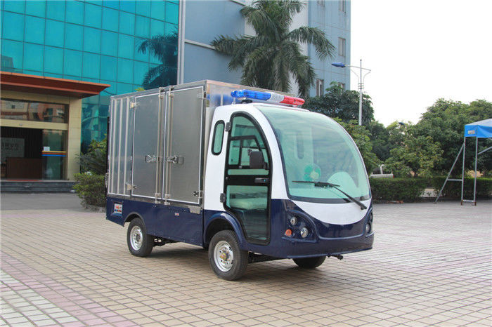 DC Controller Electric Utility Carts , Dry Battery Powered Utility Vehicles With Hydraulic Tail Plate