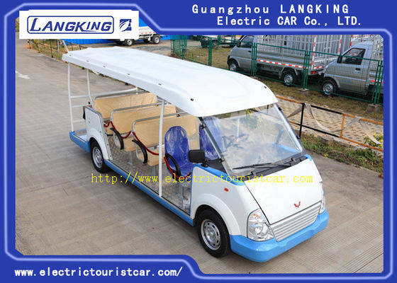 Chiny 18 miejsc Green Gasoline Electric Tourist Car Resort Car F / R Independent Suspension fabryka