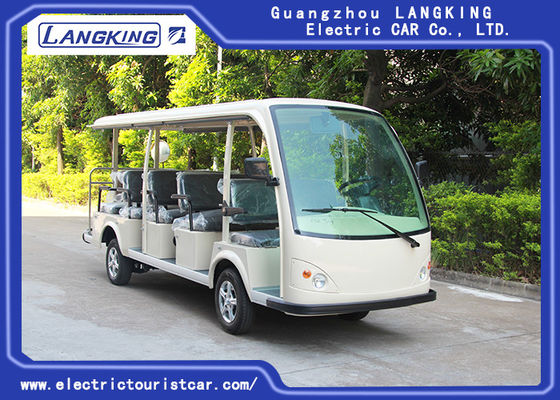 Low Electric 72V 5.5KW Mini Electric Sightseeing Car / 14 Seats Electric Shuttle Bus